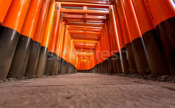 Santuario kyoto Giappone porta arancione viaggio Foto d'archivio © vichie81