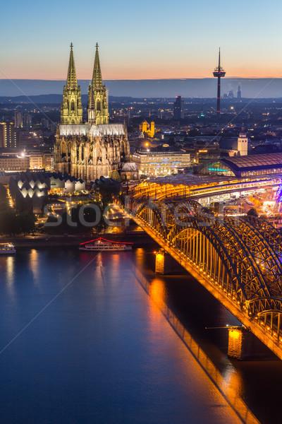 Colonia catedral aéreo Alemania edificio Foto stock © vichie81
