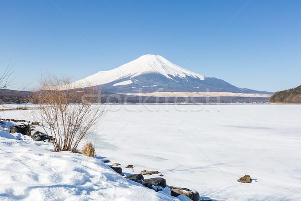 Berg fuji winter Mount Fuji meer Stockfoto © vichie81