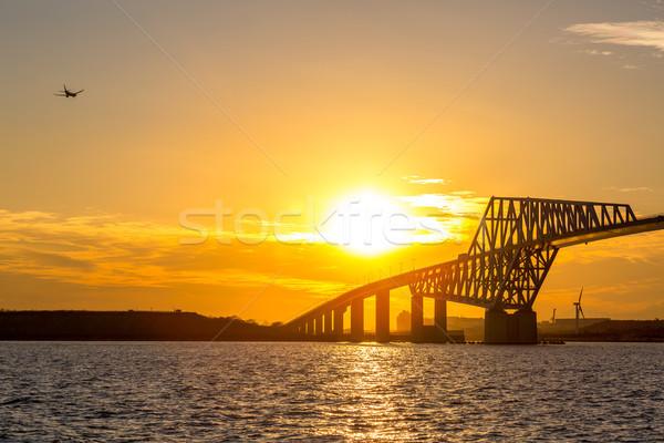 Tokyo Gate Bridge Sunset Stock photo © vichie81