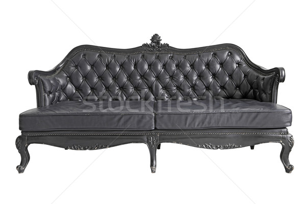 black leather sofa Stock photo © vichie81
