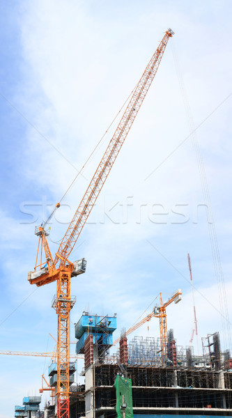 scaffolding construction site Stock photo © vichie81