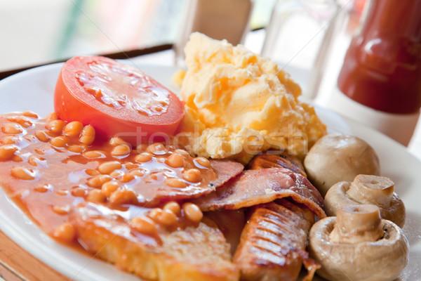 Tok İngilizce kahvaltı gıda plaka Stok fotoğraf © vichie81