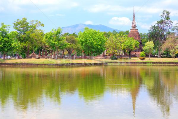 Sukhothai Historical Park Thailand Stock photo © vichie81