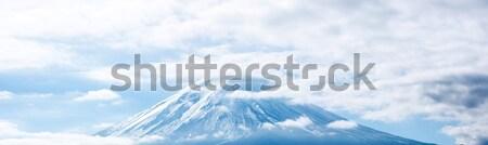 Panorama montanha fuji lago céu paisagem Foto stock © vichie81