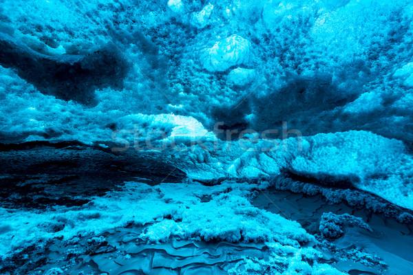 Lodu jaskini Islandia lodowiec charakter górskich Zdjęcia stock © vichie81