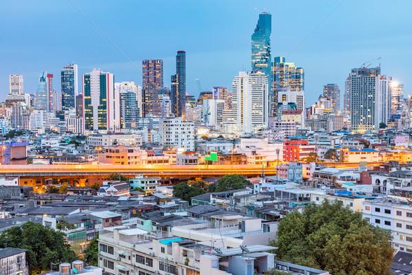 Stock photo: Bangkok Skyline Sunset