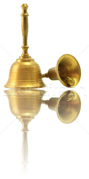 hand Bell Isolated on White with its reflection Stock photo © vichie81