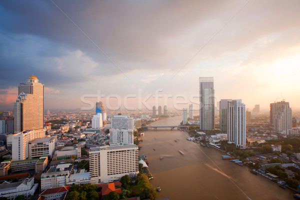 Bangkok Skyline sunset Stock photo © vichie81
