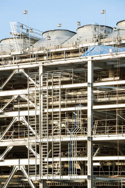 Rafineri fabrika doğal gaz depolama tank yağ Stok fotoğraf © vichie81