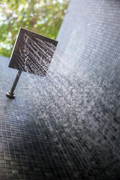 Сток-фото: дождь · душу · воды · Открытый · фон · работает