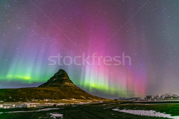 Northern Light Aurora Iceland Stock photo © vichie81