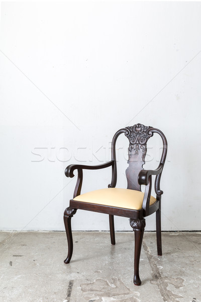 Vintage white wooden chair Stock photo © vichie81