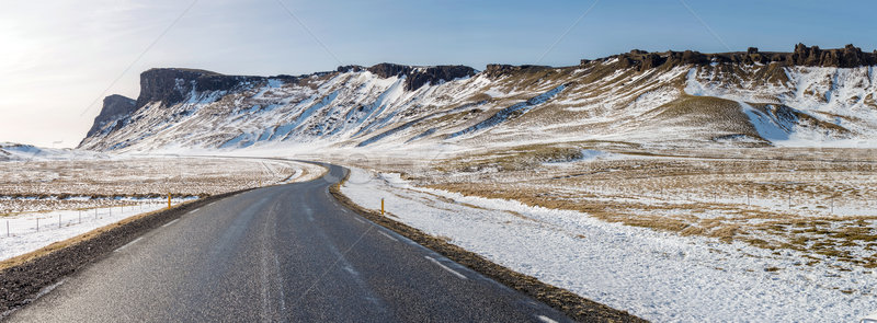 Road Winter Mountain Iceland Stock photo © vichie81