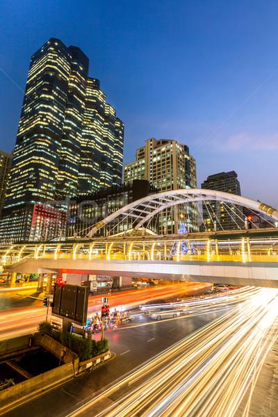 Bangkok şehir merkezinde Bina Tayland yol manzara Stok fotoğraf © vichie81