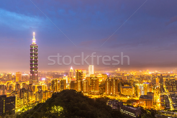 Taipei, Taiwan skylines Stock photo © vichie81