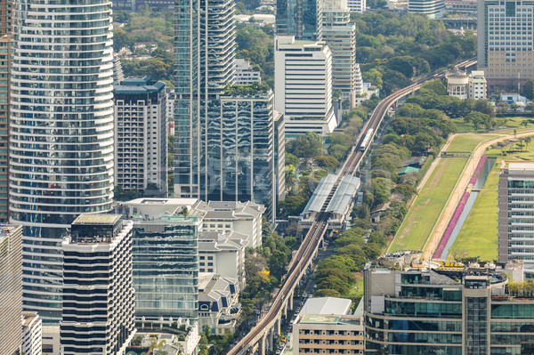 Bangkok Cityscape ufuk çizgisi şehir merkezinde Tayland Stok fotoğraf © vichie81