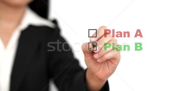 Business Plan B Stock photo © vichie81