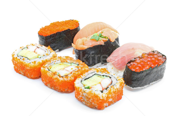 Sushi japans ingesteld witte voedsel Stockfoto © vichie81
