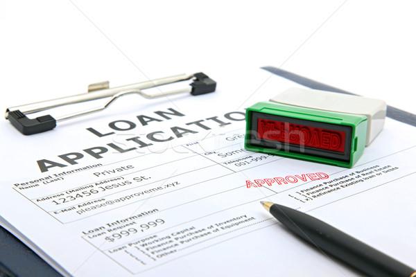 Prestito contratto approvato business processo applicazione Foto d'archivio © vichie81