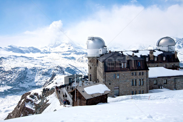 Gornergrat Observatory and Matterhorn Switzerland Stock photo © vichie81