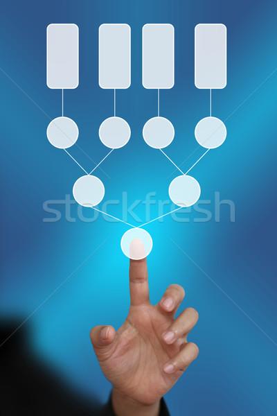 Affaires main décision arbre Photo stock © vichie81
