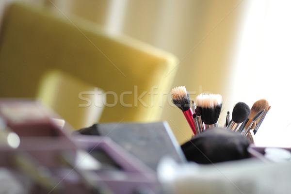 Perspectief cosmetische beker witte gezicht lichaam Stockfoto © vichie81