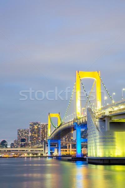 Rainbow bridge Tokyo Japan Stock photo © vichie81