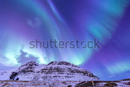Stock photo: Northern Light Aurora Iceland
