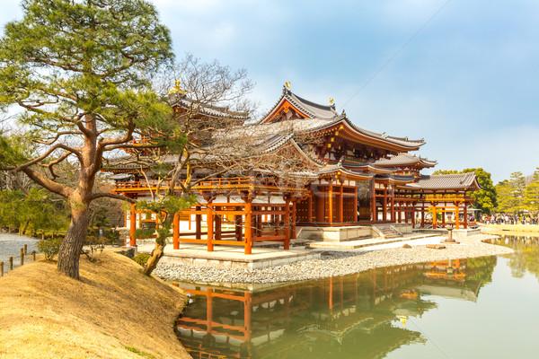 Temple kyoto ville Japon Voyage lac Photo stock © vichie81