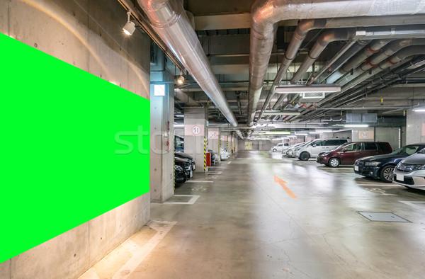 Parkolás garázs földalatti belső pláza éjszaka Stock fotó © vichie81