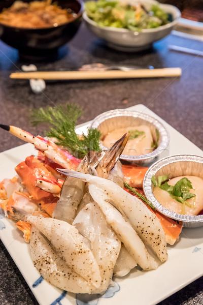 свежие морепродуктов набор Японский продовольствие рыбы Сток-фото © vichie81