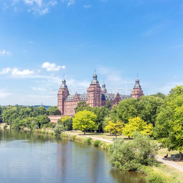 Foto stock: Palacio · panorama · Frankfurt · Alemania · árbol · edificio