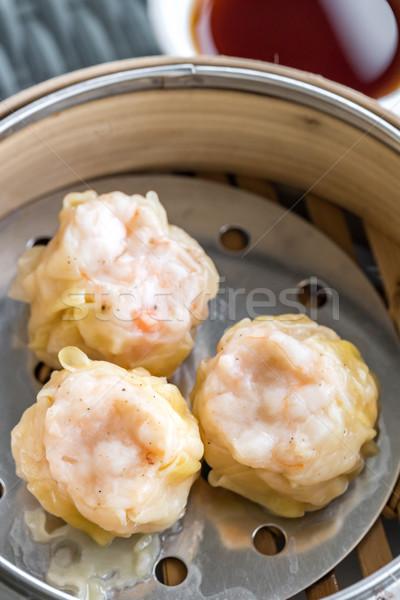Kínai dim sum párolt eszik főzés ebéd Stock fotó © vichie81