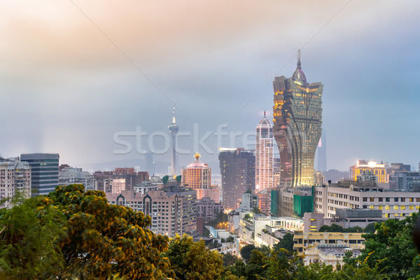 Macau cityscape night Stock photo © vichie81