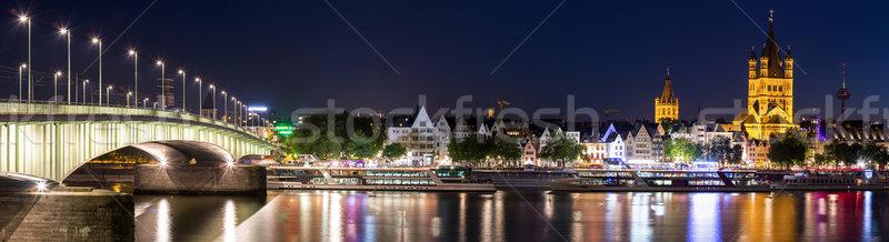 Colonia panorama paisaje río ciudad edificios Foto stock © vichie81
