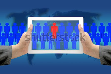 electronic recruitment process Stock photo © vichie81
