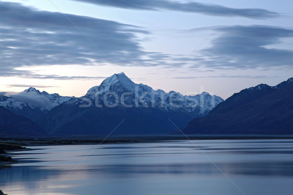 Mount cook and lake pukaki Stock photo © vichie81