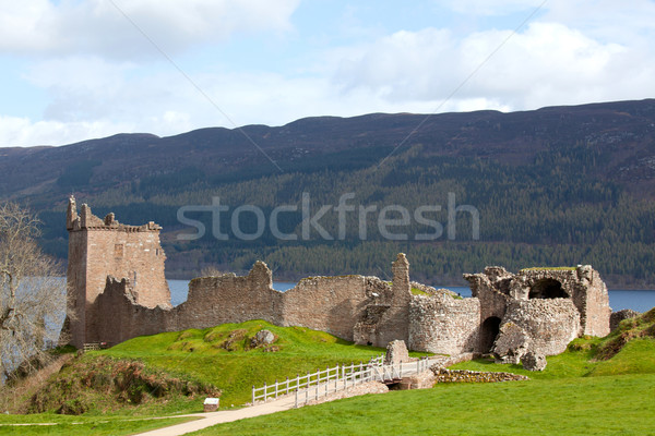 Ruins of Urquhart Castle UK Stock photo © vichie81