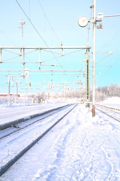 Winter Railroad Landscape Stock photo © vichie81