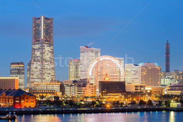 Yokohama skyline Giappone costruzione grattacielo Foto d'archivio © vichie81