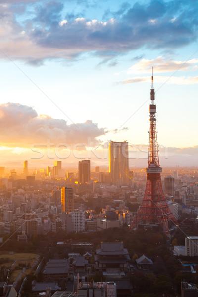Tokyo Tower Sunset Stock photo © vichie81