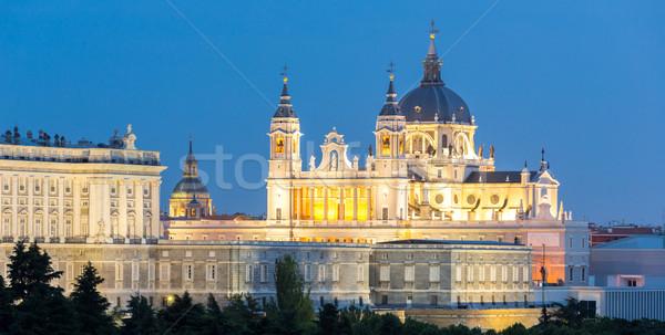 大聖堂 マドリード 夕暮れ スペイン 建物 光 ストックフォト © vichie81
