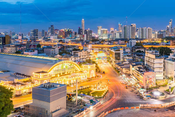 Stock photo: Bangkok Central Train Station sunset