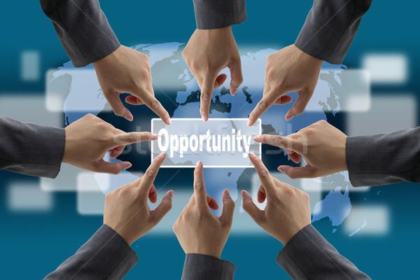 Мир возможность бизнеса команде технологий Сток-фото © vichie81