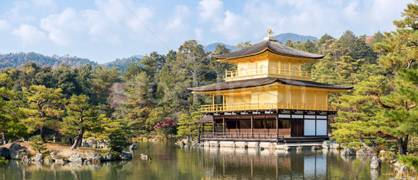 Golden Tempel Panorama Landschaft Japan Stock foto © vichie81