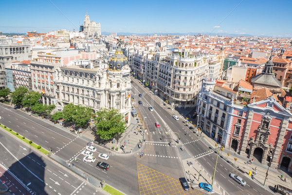Gran Via Madrid Stock photo © vichie81