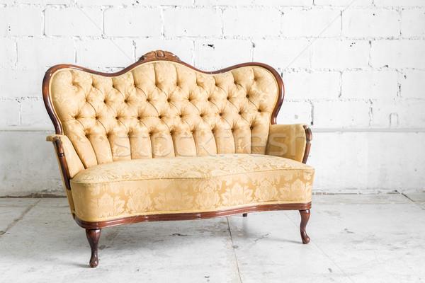Brown Retro Sofa Stock photo © vichie81