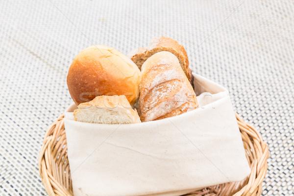 Fresh bread basket Stock photo © vichie81