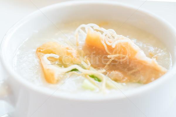 Riz viande déjeuner asian chinois cuisson Photo stock © vichie81